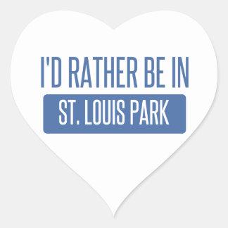 Adesivo Coração Parque de St Louis