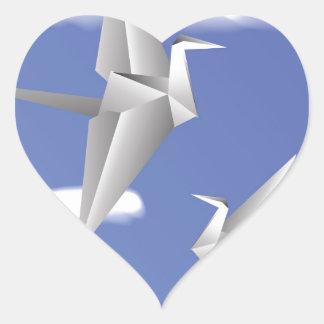 Adesivo Coração pássaros 78Paper _rasterized
