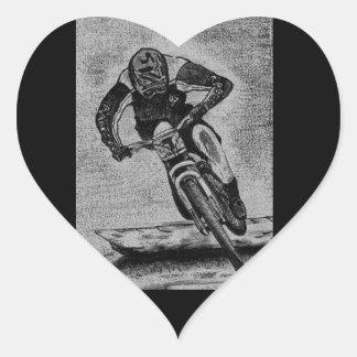 Adesivo Coração Passeio do Mountain bike