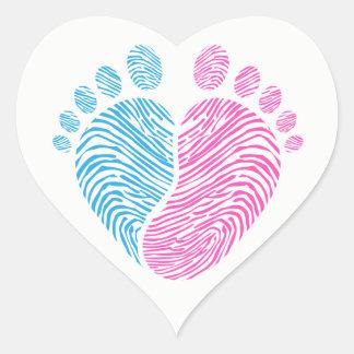Adesivo Coração Passos do bebê