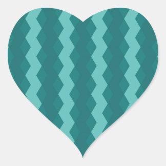 Adesivo Coração Pattern Blue Stripes - Linhas zigzag