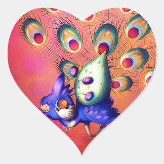 Adesivo Coração Pavão