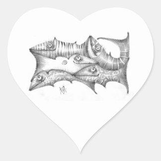 Adesivo Coração Peixes