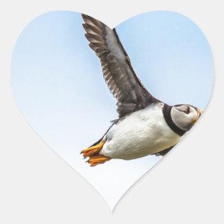 Adesivo Coração Pena da mosca dos animais selvagens do vôo do mar