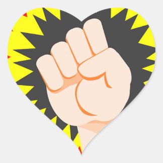Adesivo Coração Perfurador da energia do poder do braço da força
