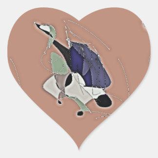 Adesivo Coração Permanece em contacto o toque um coração
