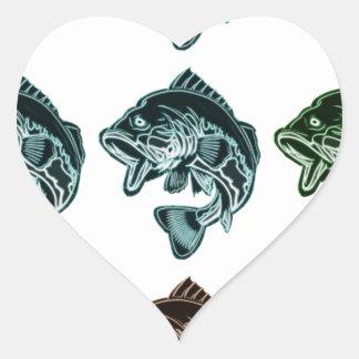 Adesivo Coração Pesca da perda