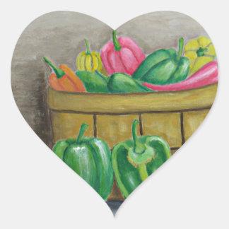 Adesivo Coração pimentas