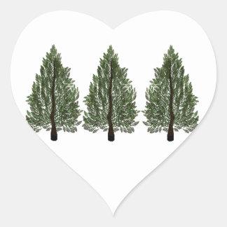 Adesivo Coração Pinhos do Tripple