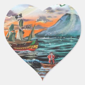 Adesivo Coração Pintura de Bell do funileiro da angra do gancho de