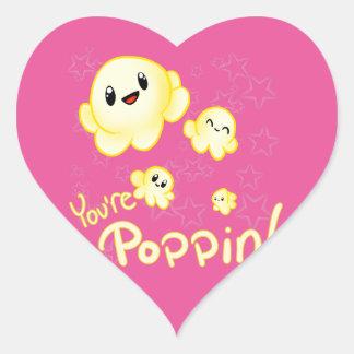 Adesivo Coração Pipoca de Poppin