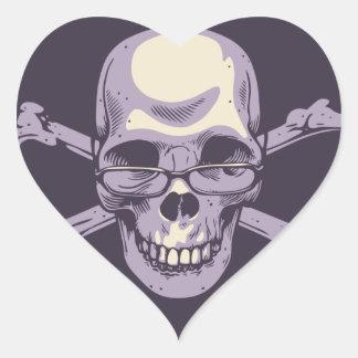 Adesivo Coração Pirata Nerdy