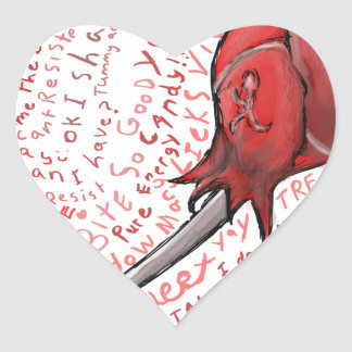 Adesivo Coração Pirulito