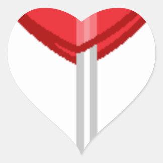 Adesivo Coração pirulito vermelho do coração