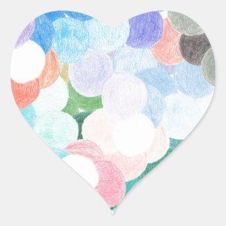 Adesivo Coração Playfully pitoresco