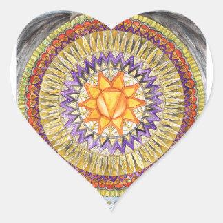 Adesivo Coração Plexo solar Chakra
