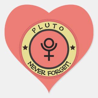 Adesivo Coração Pluto, nunca esquece