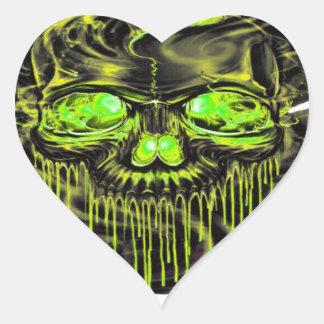 Adesivo Coração Png lustroso dos esqueletos de Yella
