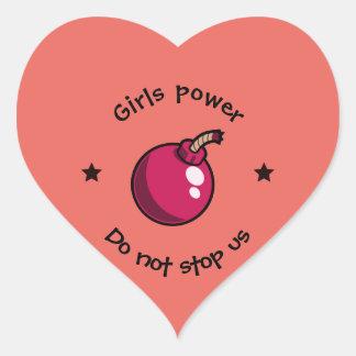 Adesivo Coração Poder das meninas
