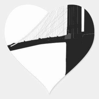 Adesivo Coração Ponte de Brooklyn