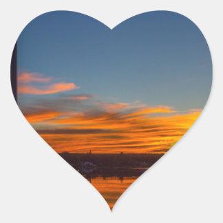 Adesivo Coração Por do sol da baía de Liverpool