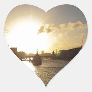 Adesivo Coração Por do sol de Londres