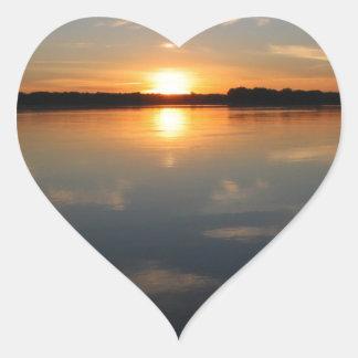 Adesivo Coração Por do sol de Missouri