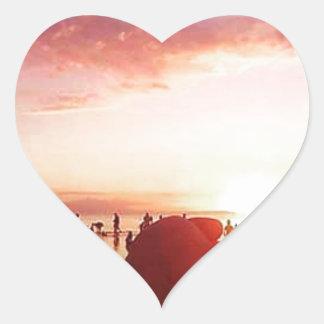 Adesivo Coração Por do sol maravilhoso e incrível nas Filipinas
