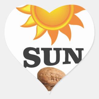 Adesivo Coração porca do sol yeah