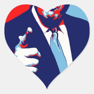 """Adesivo Coração Poster 2017 da paródia do """"medo"""" de Donald Trump"""