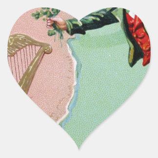 Adesivo Coração Poster da ilha dos erin do dia de Patrick de santo