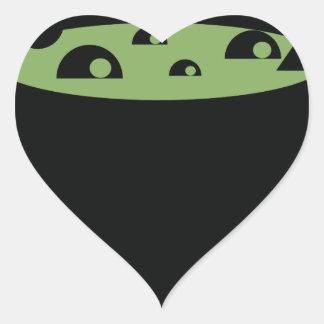 Adesivo Coração Pote preto e verde do cozinhar
