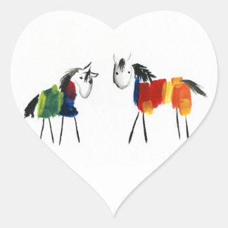 Adesivo Coração Poucos pôneis do arco-íris