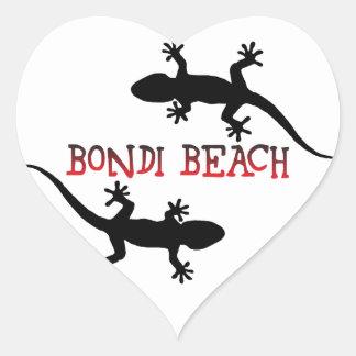 Adesivo Coração Praia Austrália de Bondi