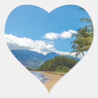 Adesivo Coração Praia em Havaí
