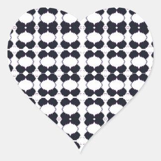 Adesivo Coração Preto do laço no branco