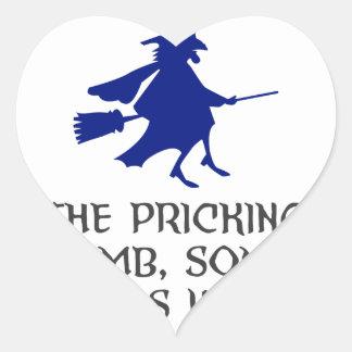 Adesivo Coração Pricking de meu design do Dia das Bruxas do