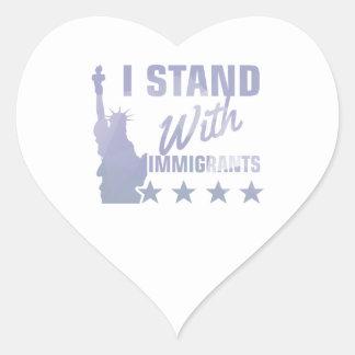 Adesivo Coração Pro camisa da estátua da liberdade da imigração