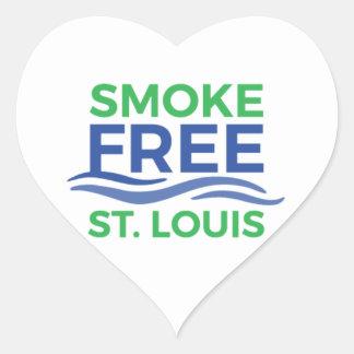 Adesivo Coração Produtos sem fumo de STL