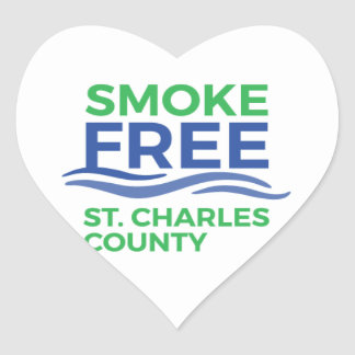Adesivo Coração Produtos sem fumo do STC