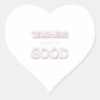 Adesivo Coração Professores que vão aprendê-lo bom