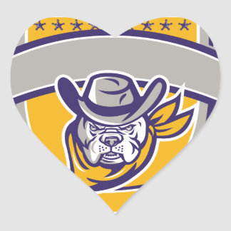 Adesivo Coração Protetor da cabeça do vaqueiro do xerife do