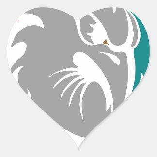 Adesivo Coração Protetor da protecção de segurança do falcão
