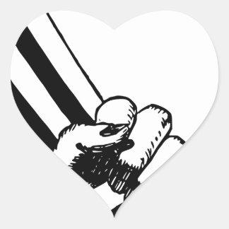 Adesivo Coração Punho do poder