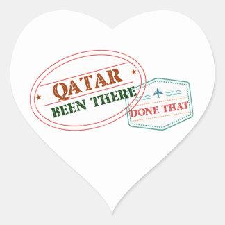 Adesivo Coração Qatar feito lá isso