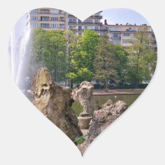 Adesivo Coração Quadrado de Marie-Louise em Bruxelas, Bélgica