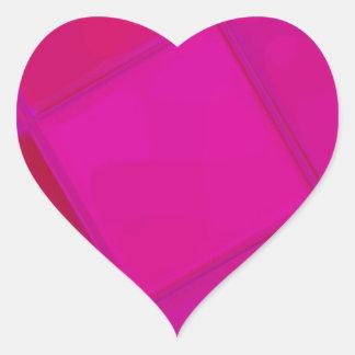 Adesivo Coração QUADRADO espelhado recreado por Robert S. Lee
