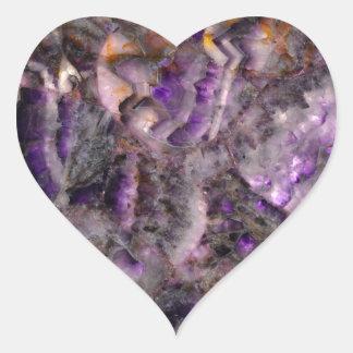 Adesivo Coração quartzo roxo