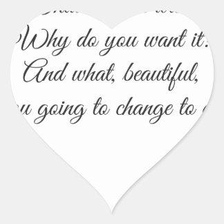 Adesivo Coração Que você quer?