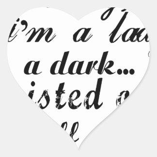Adesivo Coração querido eu sou uma senhora um torcida a escura
